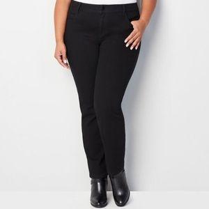 Avenue 1432 Straight Leg Jeans in Black NWT